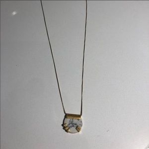 Madewell Marble and Gold Necklace